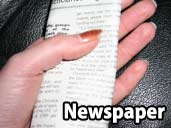 Newspaper - a suitable substrate for a Paraguayan Rainbow Boa